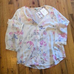 Joie floral silk blouse